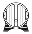 beer barrel icon simple style vector image vector image