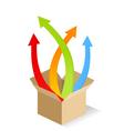 box of arrows vector image vector image