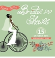 Bridal Shower invitation with bride floral vector image vector image