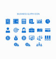business glyph icon vector image vector image