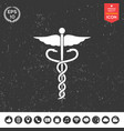 caduceus medical symbol vector image
