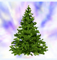 christmas tree low poly triangle origami style vector image