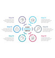 circle infographics with six elements vector image vector image