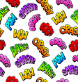 Comics seamless background from sound effects vector image