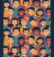 crowd people seamless background cartoon vector image