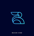 duck colorful design template vector image vector image