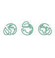 eco safe icon recyclable package symbol template vector image vector image