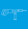 electric drill perforator icon outline vector image vector image