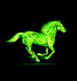 Fair Horse Run2 03 vector image vector image