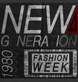 fashion style slogan graphic for t-shirt new york vector image