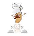 funny cartoon cute brown chef potato vector image