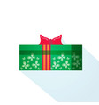 gift box wrapped ribbon holiday present isolated vector image vector image