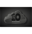 Glassy Cloud Background vector image
