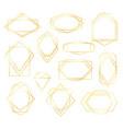 golden poligonal frames vector image