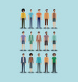 group of men characters vector image