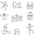 Halloween hand draw doodle flat vector image vector image