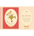happy baby greeting card vector image vector image