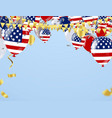 happy independence day of usa with text on retro vector image vector image