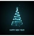 Holiday of abstract Christmas tree vector image