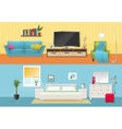 Interiors Flat Compositions vector image vector image