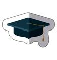 isolated graduation cap design vector image vector image