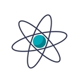 Isolated science atom design vector image