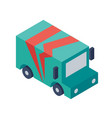 isometric delivery truck object or icon - element vector image vector image