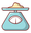 kitchen scales icon cartoon style vector image vector image
