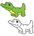 krokodile coloring book vector image