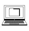 laptop folder file organizer data digital vector image