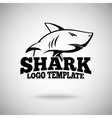 logo template with Shark for sport teams vector image vector image