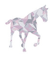 low poly horse design vector image vector image
