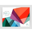 Low poly triangle business background vector image vector image