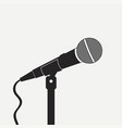 microphone on the stand vector image