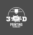 modern printer badge logotype and icon vector image vector image