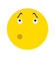 pensive smiley icon vector image
