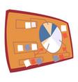 presentation board with circle diagram vector image
