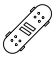 recreation skateboard icon outline style vector image vector image