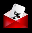 red envelope and abstract card with mask vector image