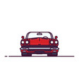 red retro cabrio front view vector image vector image