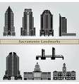 Sacramento landmarks and monuments vector image vector image