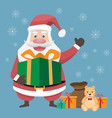 santa cluas cartoon and merry christmas vector image vector image
