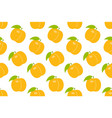 seamless pattern with orange peach vector image vector image