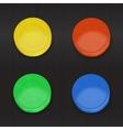 set color convex buttons vector image