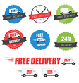 Set of delivery labels and badges vector image