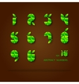 Set of Green Number vector image vector image