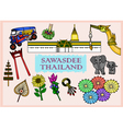 Set of Sawasdee Thailand Culture vector image vector image