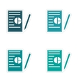 Set of stylish sticker on paper business papers vector image vector image