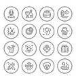 set round line icons of party vector image vector image