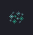 snowflakes computer symbol vector image
